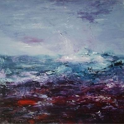 Water landscape 3 50 cm sold - painting - xplore-1239 | ello