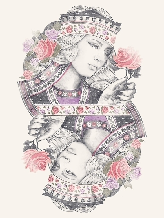 Queen Roses - illustration, drawing - meganpalmer | ello