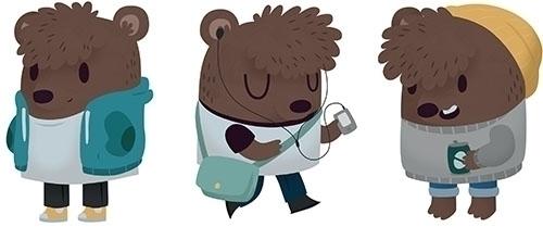 Bear - bear, animal, hipster, character - clairestamper | ello
