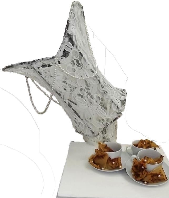 TeaTime 2015 - lace, sculpture, tea - danikabester | ello