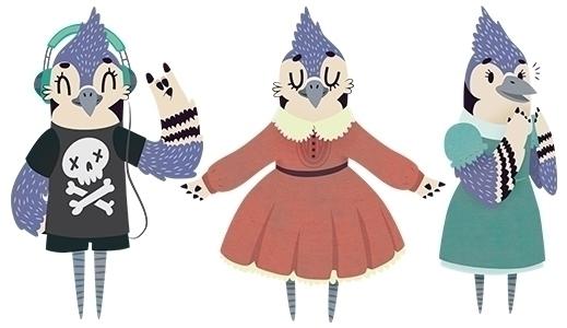 Melanie Blue Jay - bluejay, bird - clairestamper | ello