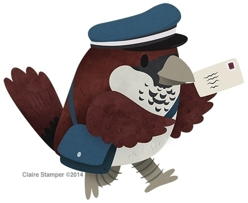 Postman Sparrow - sparrow, bird - clairestamper | ello