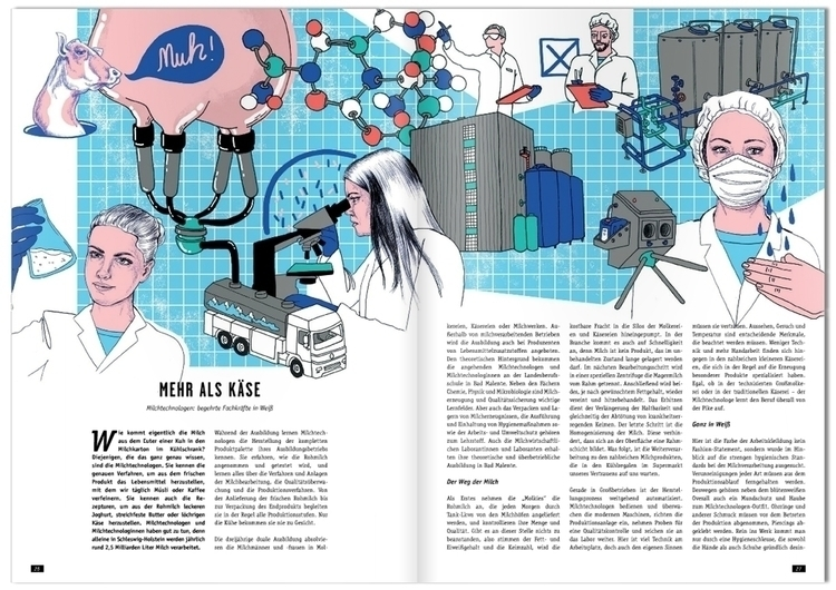 ME2BE milk technology - editorialillustration - sarahmatuszewski | ello