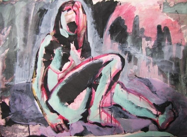 Body, tempera - painting, woman - adidraw | ello