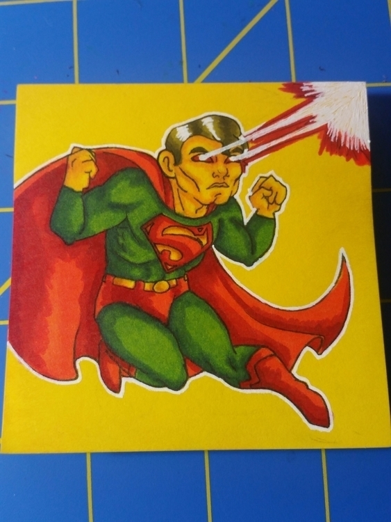note drawing Superman art trade - celestdeath | ello