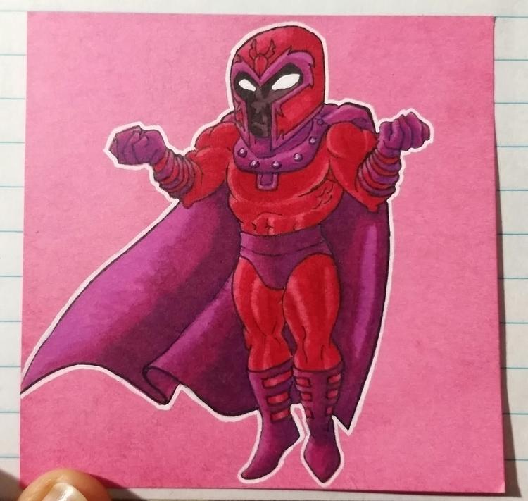 note drawing Magneto - illustration - celestdeath | ello