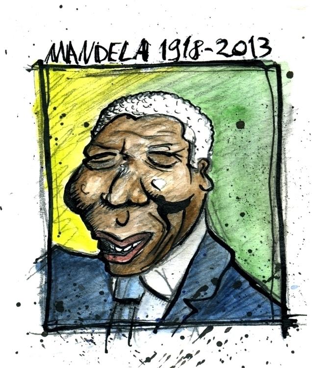 Caricature Nelson Mandela - illustration - shawy-5487 | ello