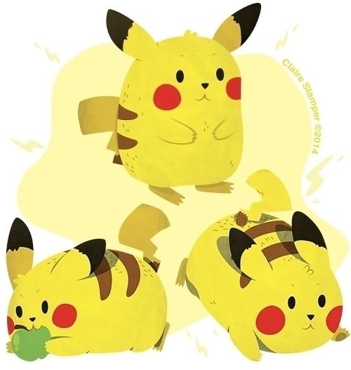Pika Pi - pikachu, vector, illustration - clairestamper | ello