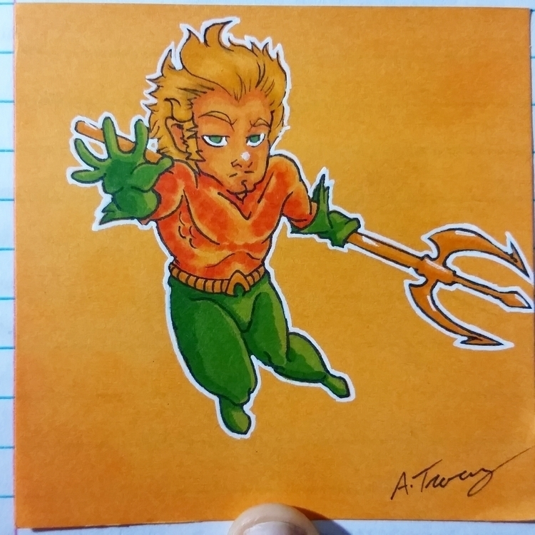 note drawing Aquaman - illustration - celestdeath | ello