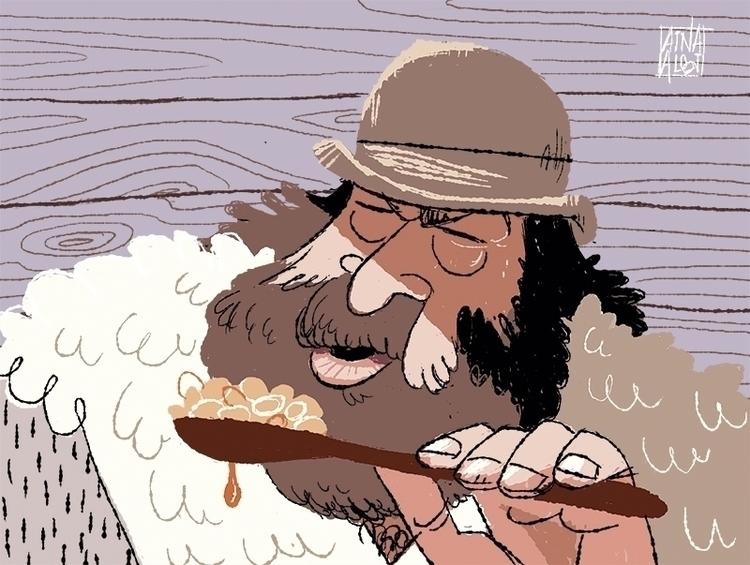 Bud Spencer - illustration, characterdesign - ainaalbi | ello
