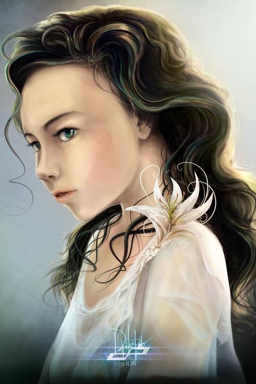 Delphia - illustration, painting - pdp-3098 | ello