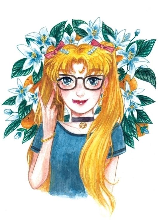Tsukino Usagi/ Sailor moon Wate - hsieying | ello