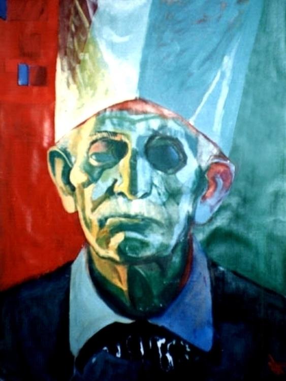 Portrait man, tempera - painting - adidraw | ello