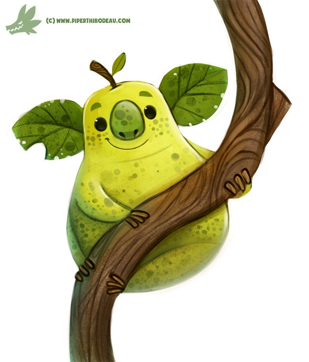 Daily Paint Koala Pear - 1171. - piperthibodeau | ello