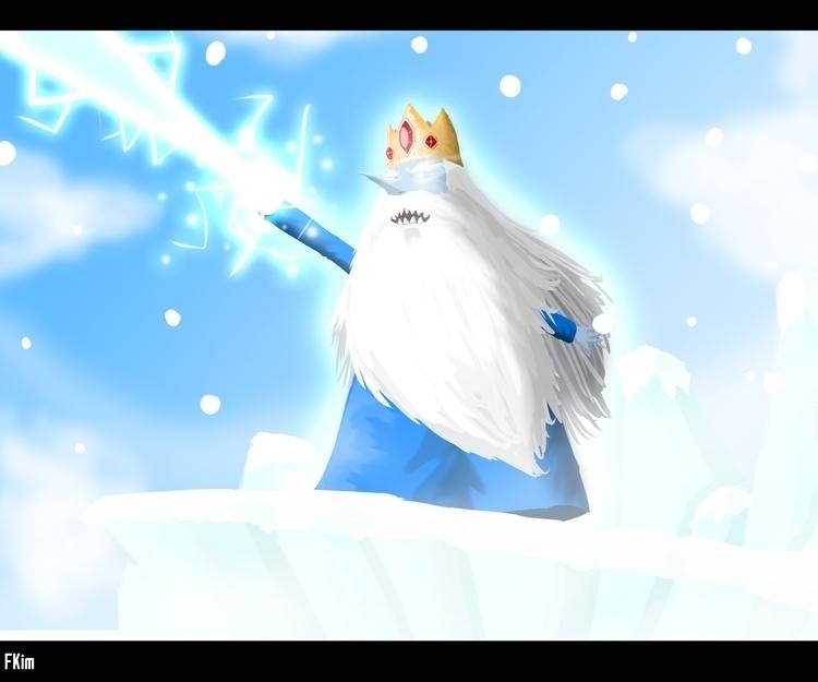 Ice King  - illustration, painting - fkim90 | ello