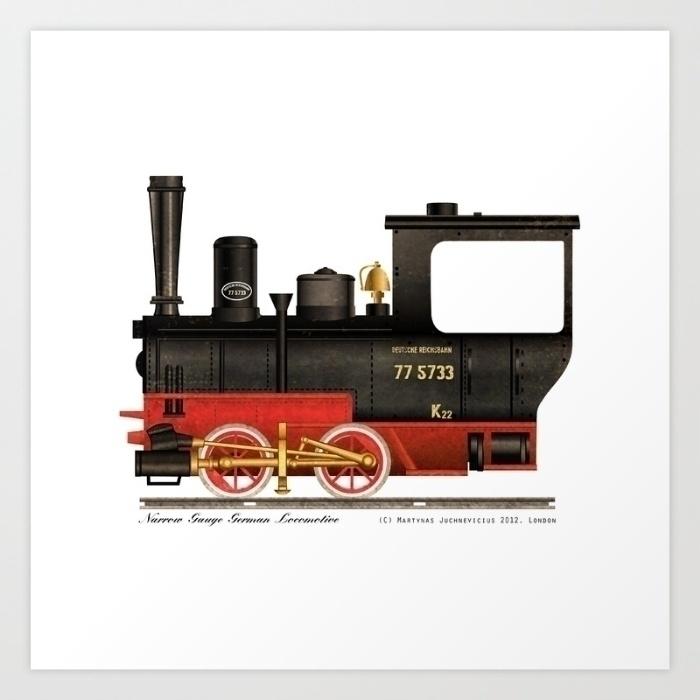 locomotive-narrow gauge german  - marts-1415 | ello