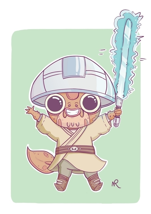 Youngling eager Jedi training - characterdesign - paperwombat | ello