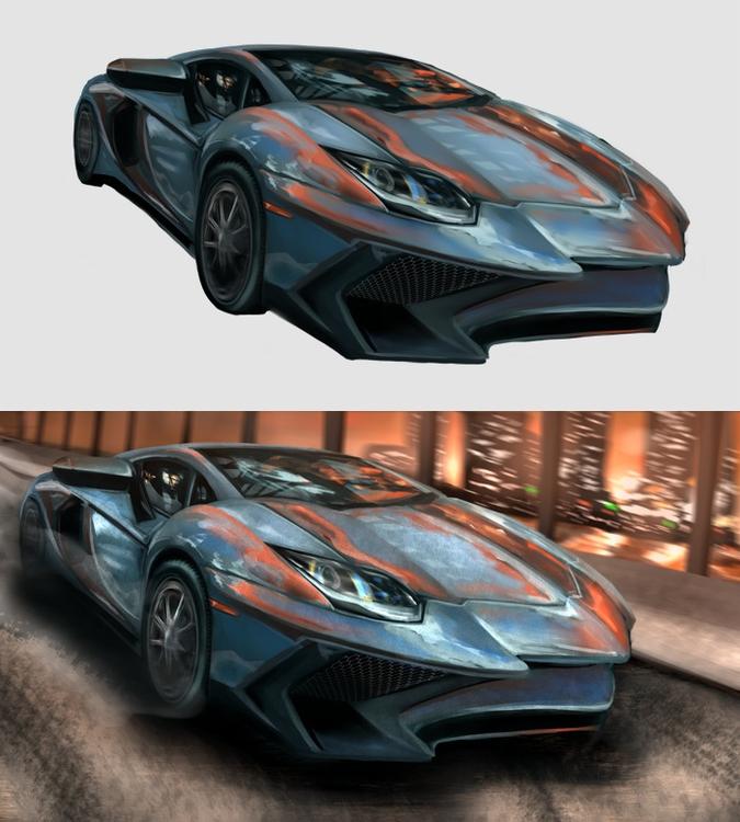 Car - car, sportscar, digitalart - mozakade | ello
