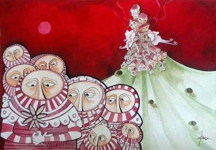 Acrylic Paper - paintacryliconpaperred - miguelbraz | ello