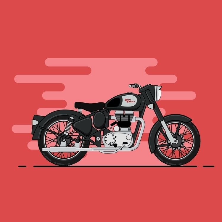 Royal Enfield Classic 350 - illustration - rajchozhiath | ello