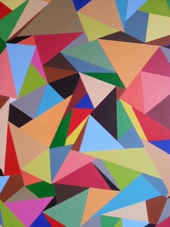 Origami 36 acrylic canvas - catherineshea | ello