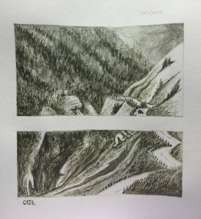 painting, liquidpencil, illustration - cat-8775 | ello