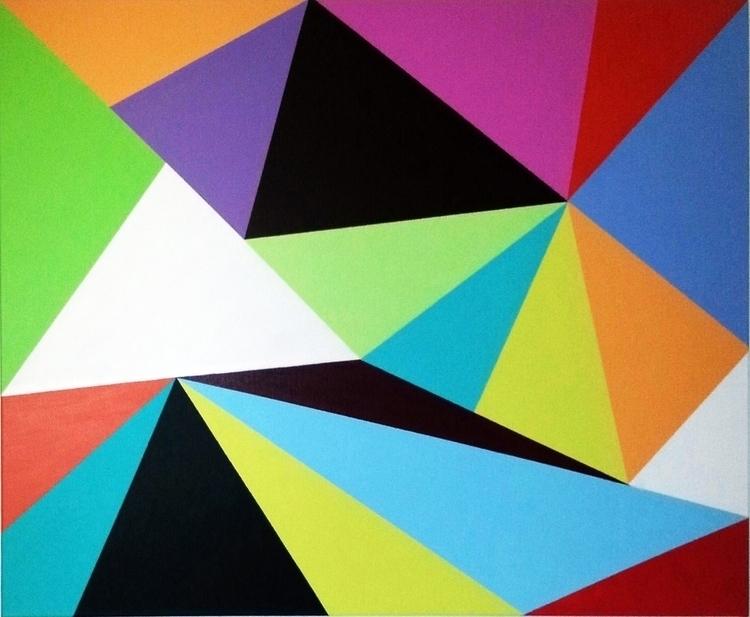 Origami Baby 30 40 Acrylic canv - catherineshea | ello
