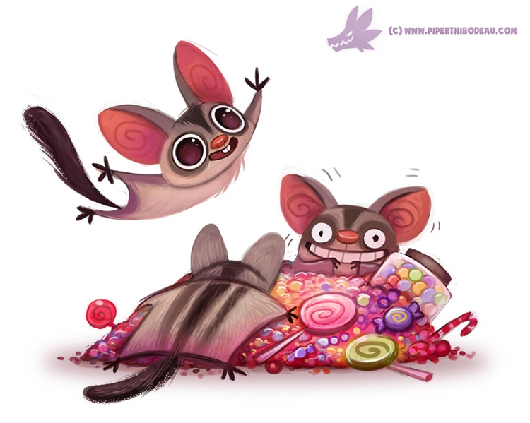 Daily Paint Sugar Gliders - 1086. - piperthibodeau | ello