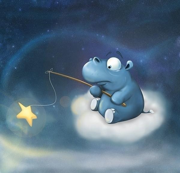 Fairy tale hippo - illustration - liudmilapantelejenkova | ello