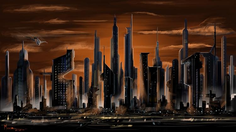 DuskCity - illustration, animation - moonarun | ello