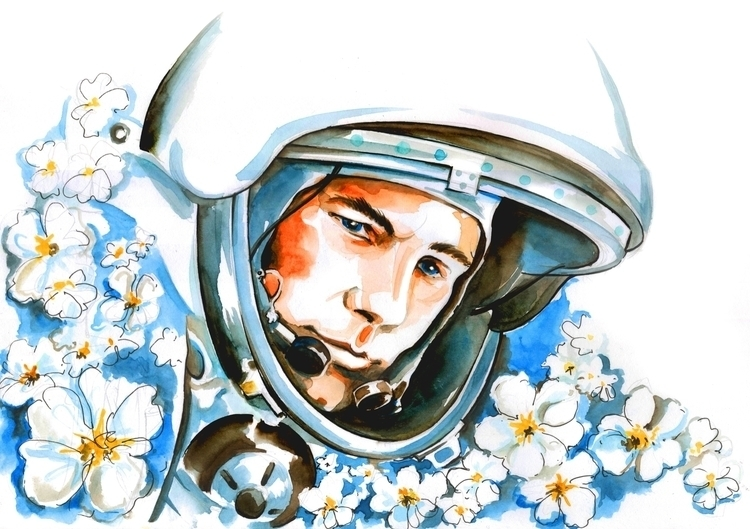 illustration, portrait, watercolor - annagosteva | ello