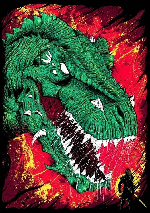 'Friend Foe - dinosaur, kaiju, samurai - kidsquidy | ello