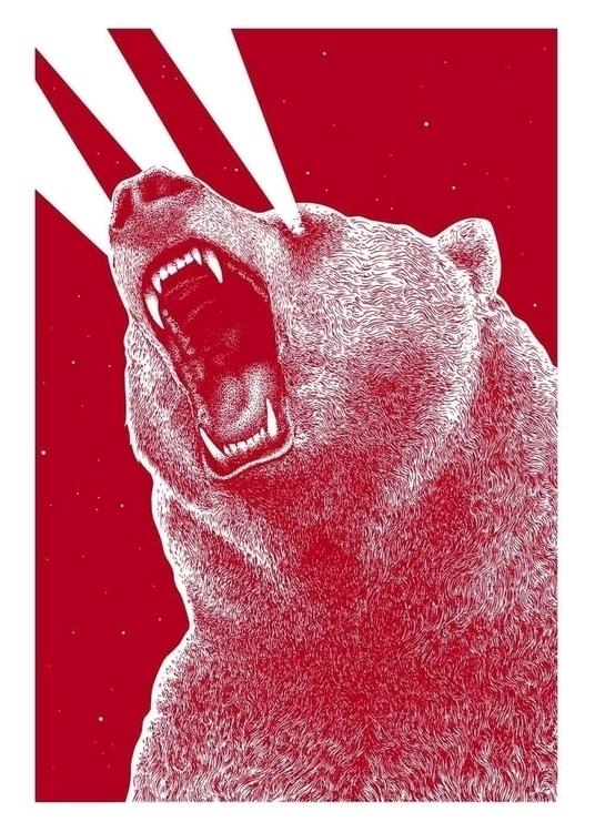 Eye Bear Silkscreen 50x70cm whi - marceautruffaut | ello