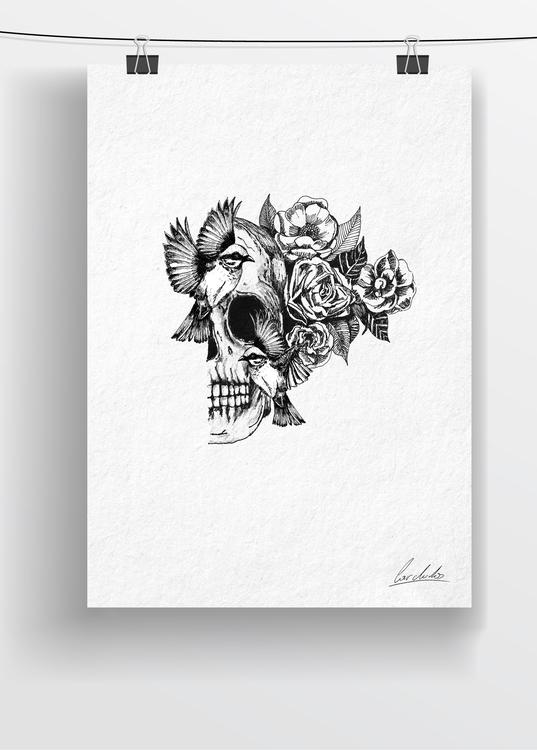 draw - drawing, art, penink, flowers - cardula | ello