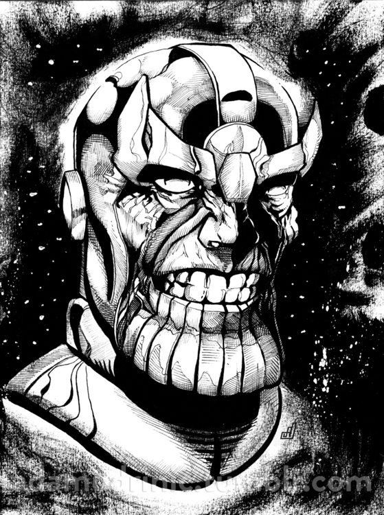 Thanos Portrait - illustration, characterdesign - admd-1177 | ello