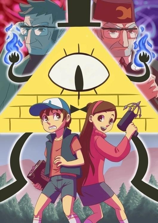 Gravity Falls poster - gravityfalls - brothertico | ello