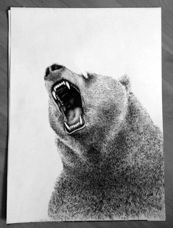 Original drawing Eye Bear Silks - marceautruffaut | ello