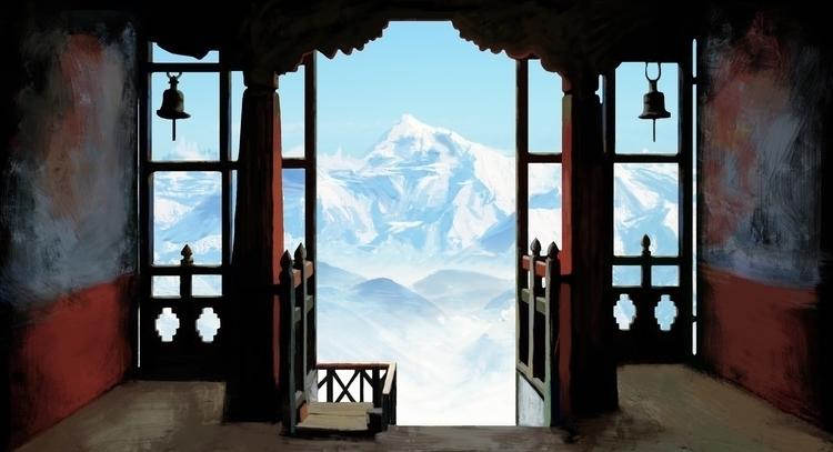 Tibet - illustration, painting, conceptart - vanillika | ello