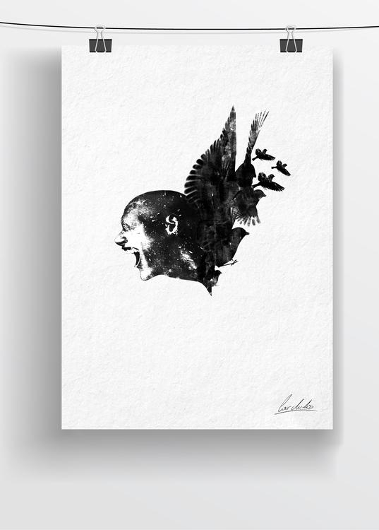 draw - drawing, art, penink, bird - cardula   ello