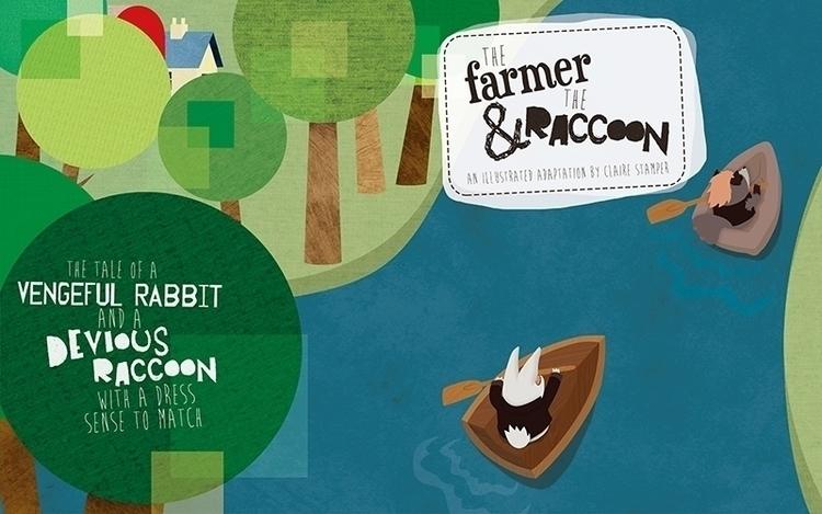 Farmer Raccoon Cover - cover, vector - clairestamper | ello