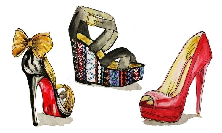 shoe art - highheels, shoeillustration - kaitlynsmith   ello
