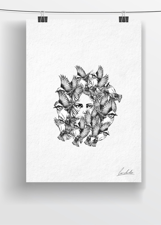 draw - drawing, art, penink, bird - cardula | ello