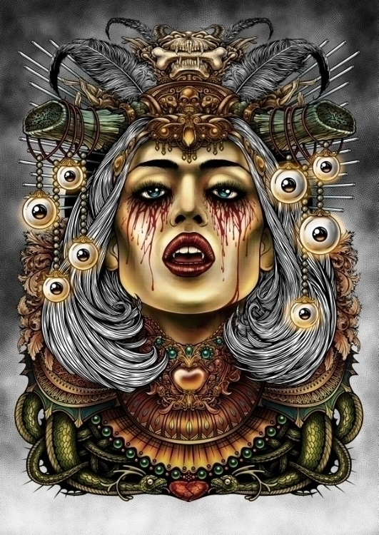 Winya - vampire, illustration, conceptart - winya | ello