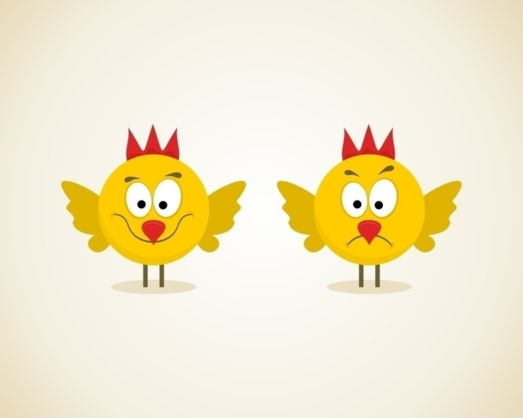 cartoon, bird, chicken - vector30 | ello