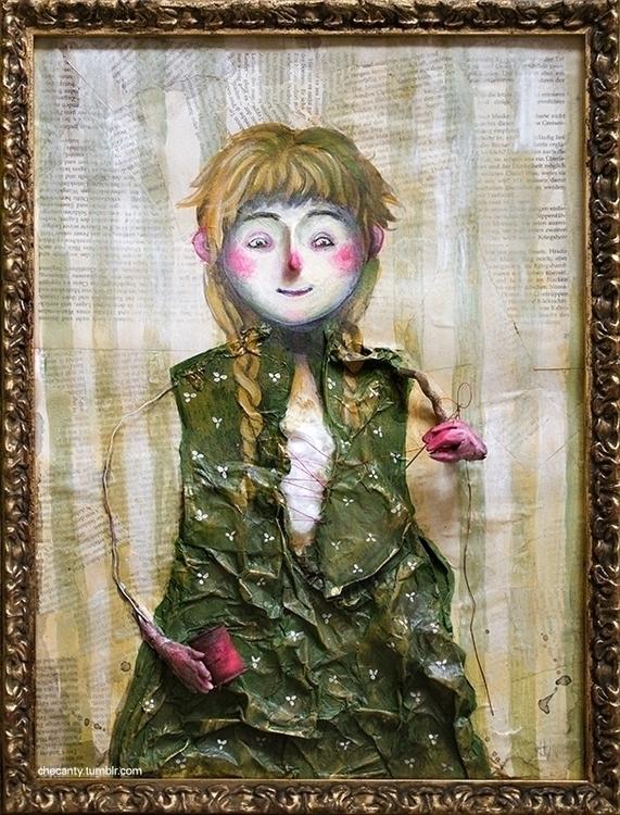 Fixit, collage, doll - checanty | ello