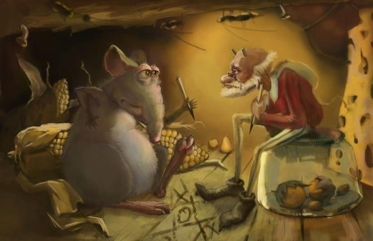 Brownie rat - illustration, animation - julia_kruchinina | ello