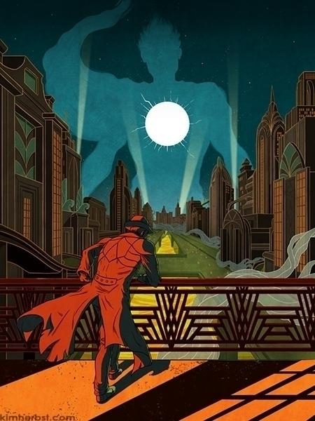 Commission book cover/poster -  - kiwifruitbird | ello
