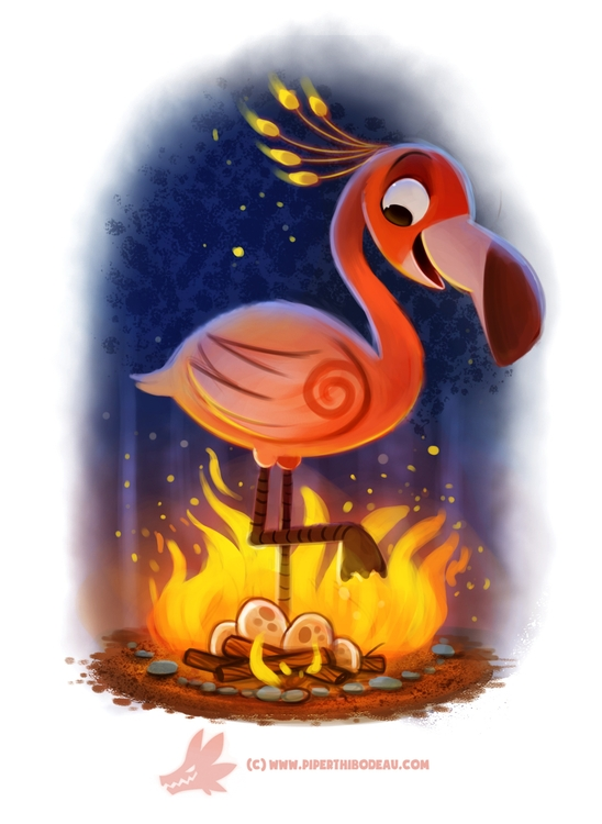 Daily Paint Flameingo - 1218. - piperthibodeau | ello