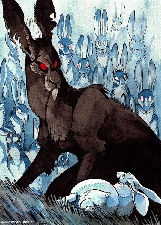 Black Rabbit Inle - rabbit, watershipdown - magnus-1542 | ello
