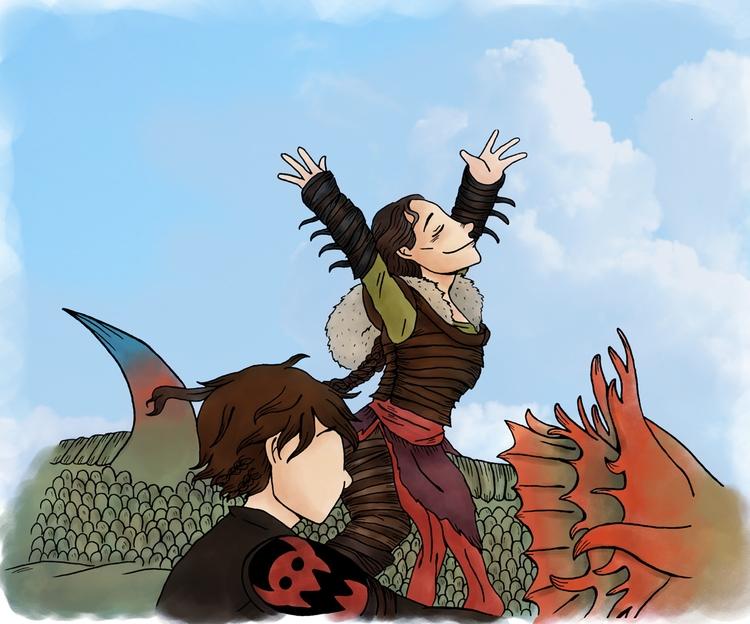 train dragon - httyd2, howtotrainyourdragon - norathebean   ello